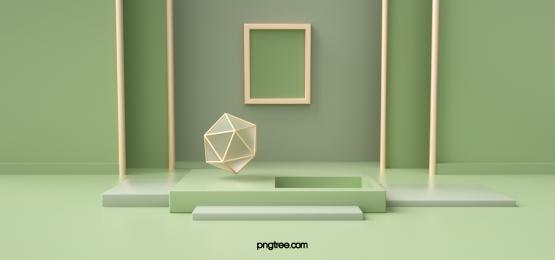 elegant green abstract geometric background