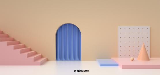 geometric background of minimalistic stairs