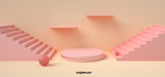 geometric background of pink stairs
