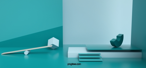 green abstract geometric solid background