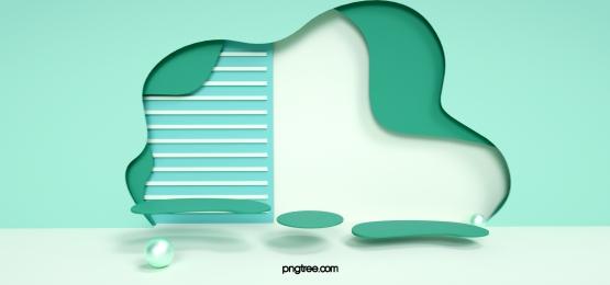 green irregular polygon background