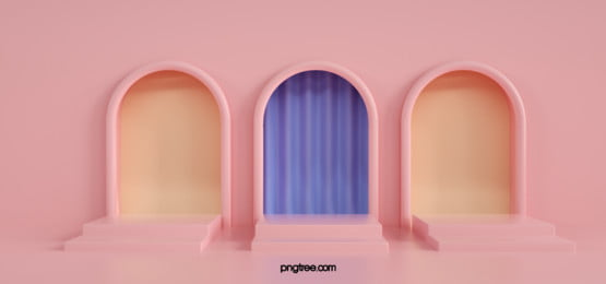 pink arched door stereo background