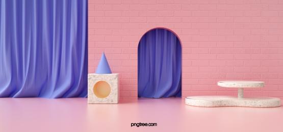 purple cloth geometric three dimensional space background