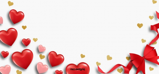 red heart shaped romantic valentines day background