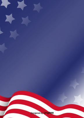 american flag colored blue background