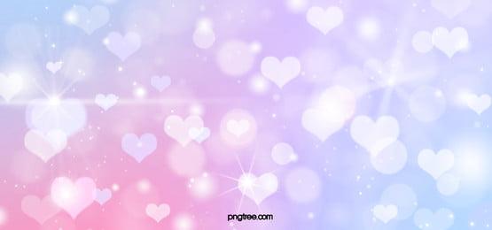 blue pink love sparkle background