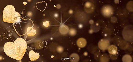 love decoration golden sparkling background