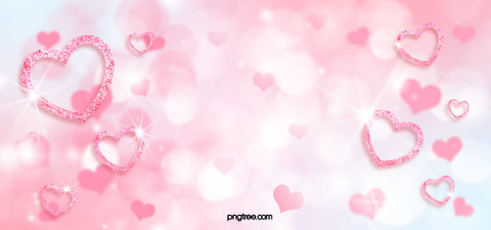 pink love shiny background