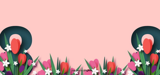 march womens day and mothers day pink flowers background