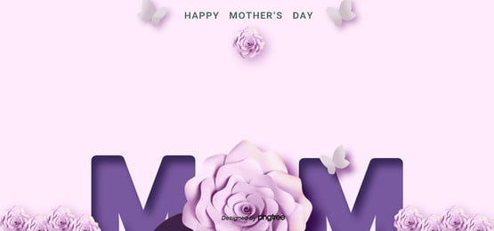 women s day and mother s day purple background