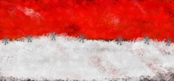 pngtree watercolor indonesian flag bendera indonesia merah putih handdrawn image 337203
