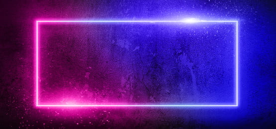 Modern Double Colors Neon Lights On Brick Background Background Neon Lights Background Image For Free Download