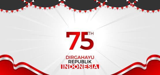 pngtree 75 tahun indonesia merdeka bakground image 354049