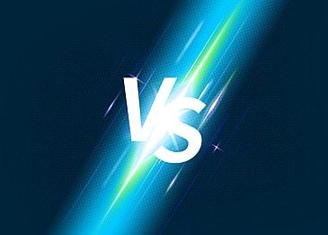 blue green light effect vs background