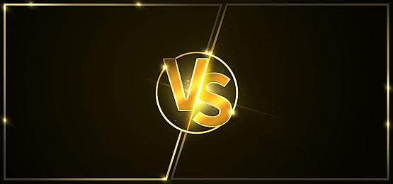 golden vs light effect background