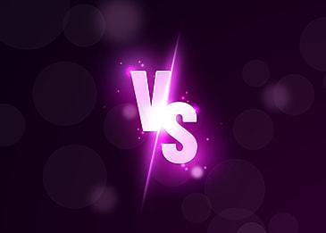 purple light effect vs background