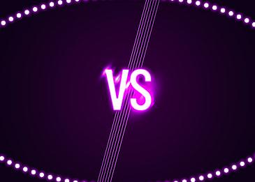 purple light effect vs game background