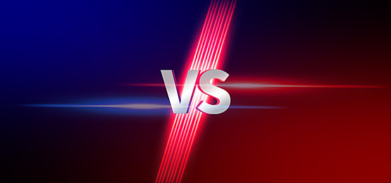 red and blue effect game vs background