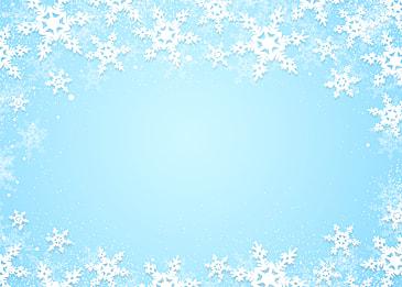beautiful white snowflake border blue gradient christmas background