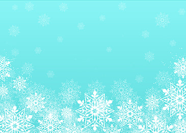 christmas border blue background with scattered white snowflakes