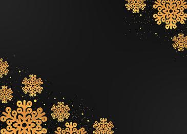 christmas creative golden texture snowflake border black background