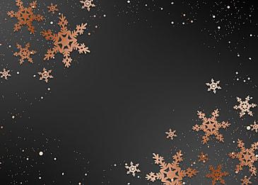christmas creative winter golden texture snowflake black background
