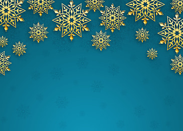 christmas golden texture snowflake border blue gradient background