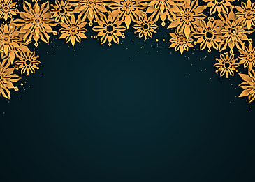 christmas overlapping golden textured snowflake border background
