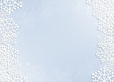 christmas white textured snowflake border light gradient background
