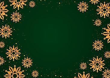 creative christmas golden texture snowflake border background