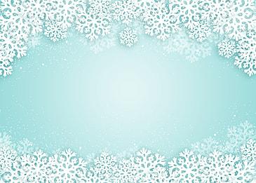 creative christmas white texture snowflake blue gradient background