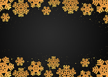 golden texture snowflake christmas creative border black background
