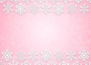 neat white christmas snowflake border pink gradient background
