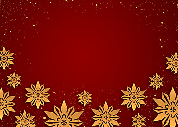 red gradient christmas golden texture snowflake border background