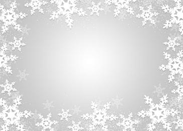 silver white textured snowflake christmas border gradient background