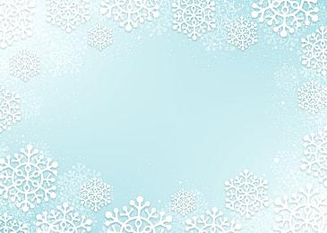 white snowflake border christmas gradient blue texture background