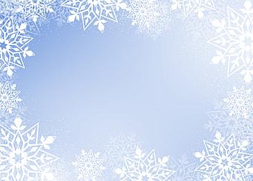 winter christmas white snowflake border gradient background