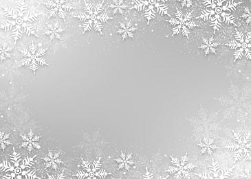 winter silver white textured snowflake christmas border background