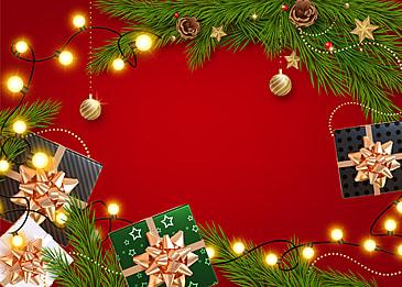 christmas event black green gift box
