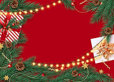 christmas event pine ball hanging pine branch