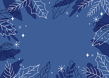 hand painted blue tone plant background
