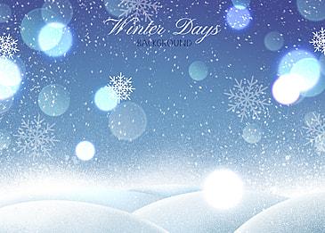 winter blue tone glitter style background