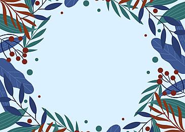 winter plant decoration creative background