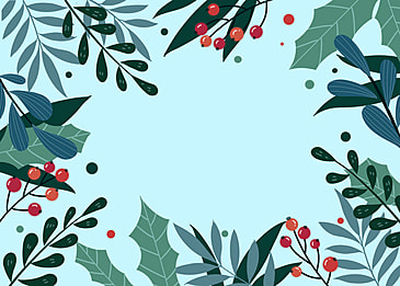winter plant hand drawn background