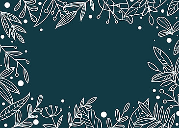 winter plant line drawing background