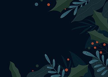 winter plants dark background