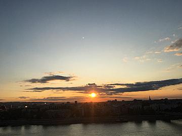 evening sky landscape photography