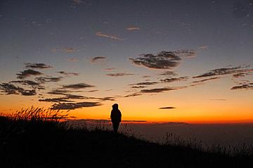 sunrise view of wugong mountain