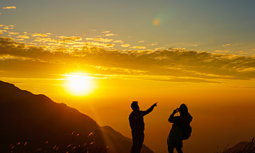 wugong mountain sunset