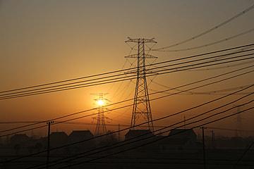 city scenery at dusk
